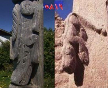نماد های چوبی سرخپوستان نوسانوس