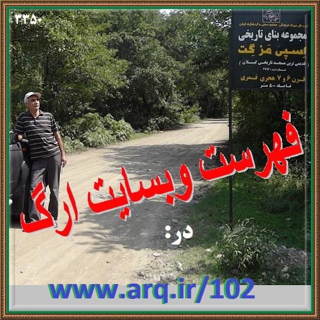 فهرست کلی تارنمای ارگ ایران