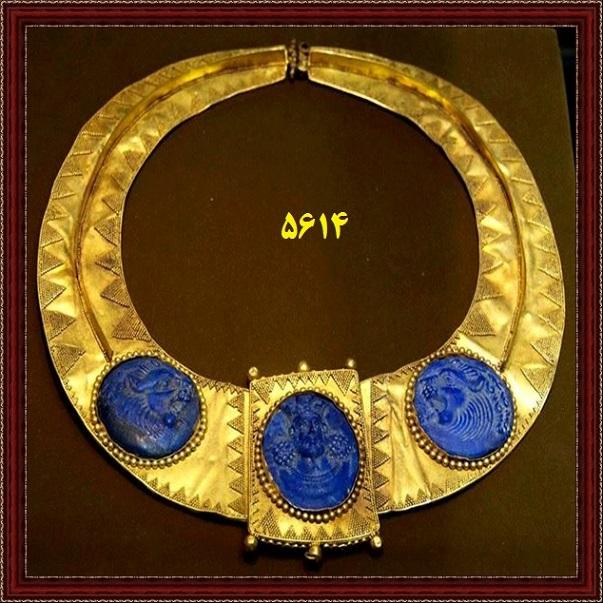 عکس گردنبند طلای - آثار ساسانی موزه مجازی ارگ ایران
