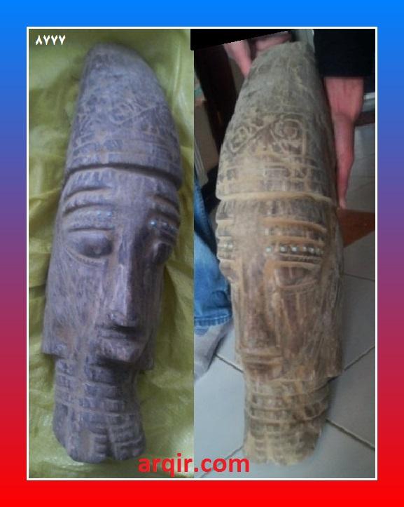 سر بت کشف شده در مرکز افغانستان